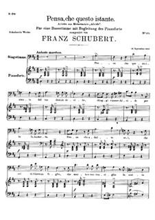 Pensa, che questo istante, D.76: D maior by Franz Schubert