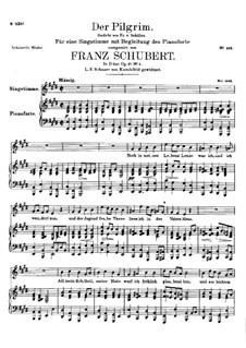 Der Pilgrim (The Pilgrim), D.794 Op.37 No.1: E Major by Franz Schubert