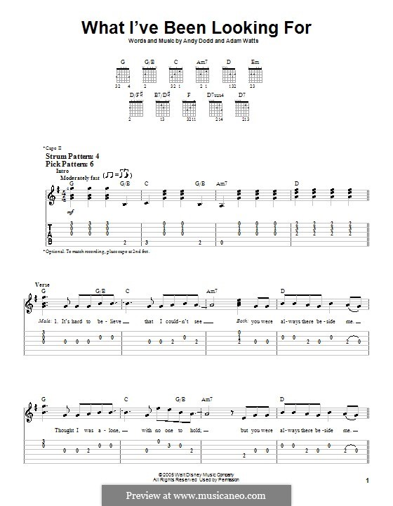 What I've Been Looking for (High School Musical): Para guitarra (versão facil) by Adam Watts, Andrew Dodd
