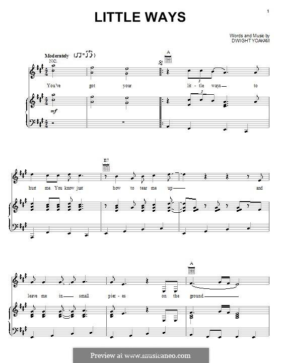 Little Ways: Para vocais e piano (ou Guitarra) by Dwight Yoakam