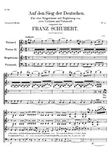 Auf den Sieg der Deutschen, D.81: Auf den Sieg der Deutschen by Franz Schubert