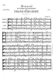 Minuet for String Quartet in D Major, D.86: Minuet for String Quartet in D Major by Franz Schubert