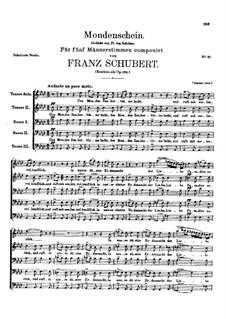 Mondenschein (Moonlight), D.875 Op.102: Mondenschein (Moonlight) by Franz Schubert
