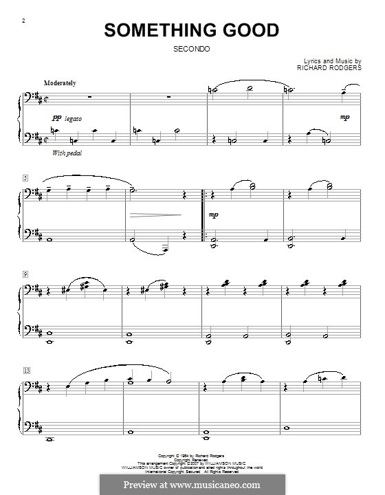 Something Good (from The Sound of Music): para piano de quadro mãos by Richard Rodgers
