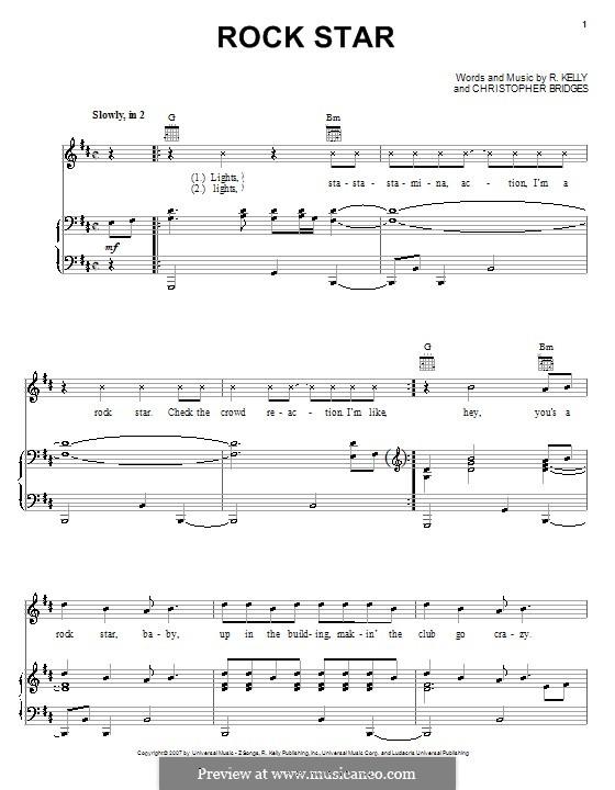 Rock Star: Para vocais e piano (ou Guitarra) by Christopher Bridges