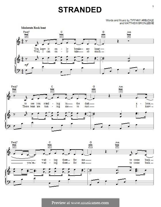 Stranded (Plumb): Para vocais e piano (ou Guitarra) by Matt Bronleewe, Tiffany Arbuckle Lee