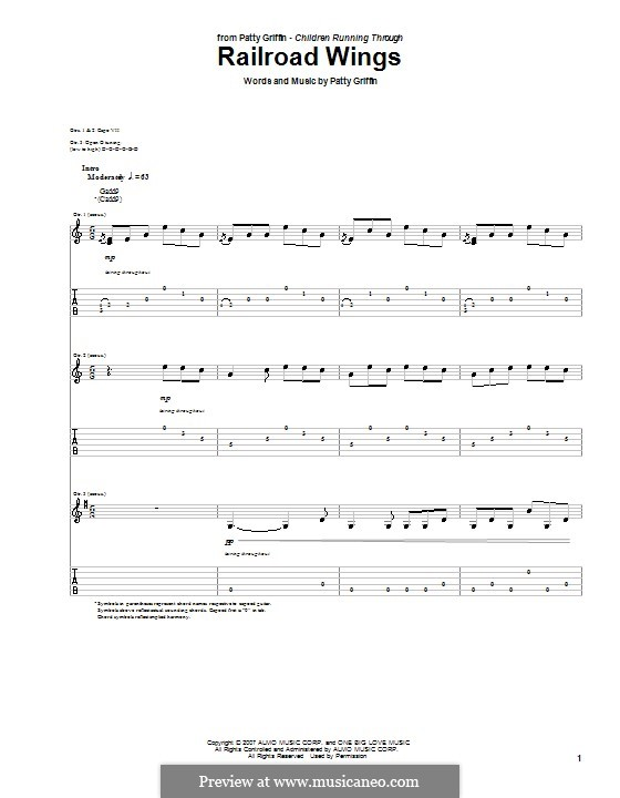 Railroad Wings: Para guitarra com guia by Patty Griffin
