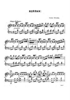 Hurrah Galop, D.70: Hurrah Galop by Louis Moreau Gottschalk