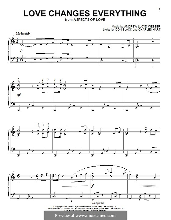 Love Changes Everything: para piano (partituras de alta qualidade) by Andrew Lloyd Webber