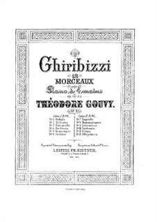 Ghiribizzi. Twelve Pieces for Piano Four Hands, Op.83: No.1-8 by Louis Théodore Gouvy