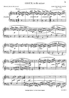 Gigue in B Flat Minor: Gigue in B Flat Minor by Carl Heinrich Graun