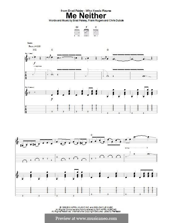 Me Neither: Para guitarra com guia by Chris DuBois, Frank Rogers