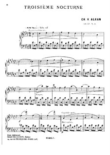 Two Nocturnes for Piano, Op.57: Nocturne F Sharp Major by Charles-Valentin Alkan