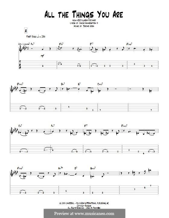 Instrumental version: For guitar (Pat Metheny) by Jerome Kern