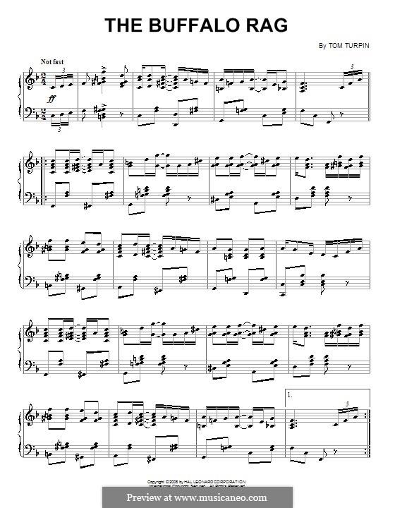 The Buffalo Rag: Para Piano by Tom Turpin