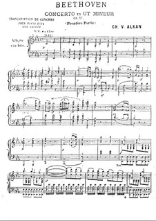 Concerto for Piano and Orchestra No.3, Op.37: versão para piano by Ludwig van Beethoven