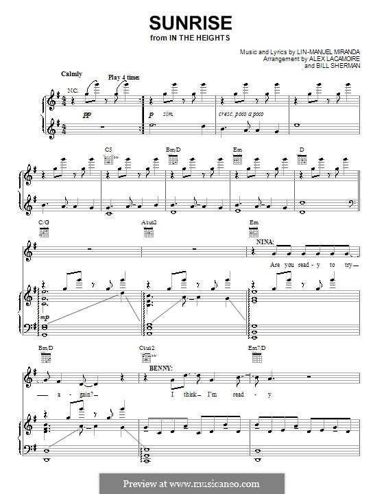 Sunrise: Para vocais e piano (ou Guitarra) by Lin-Manuel Miranda