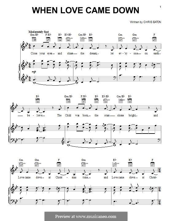 When Love Came Down (Point of Grace): Para vocais e piano (ou Guitarra) by Chris Eaton