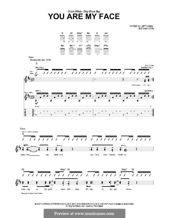 You Are My Face (Wilco): Para guitarra com guia by Jeff Tweedy, Nels Cline