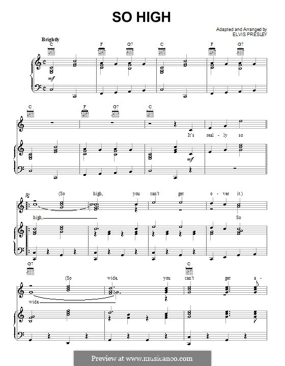 So High: Para vocais e piano (ou Guitarra) by Elvis Presley