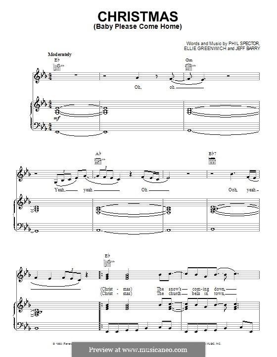 Christmas (Baby Please Come Home): Para vocais e piano (ou Guitarra) by Ellie Greenwich, Jeff Barry, Phil Spector