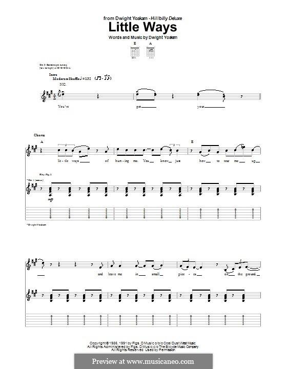 Little Ways: Para guitarra com guia by Dwight Yoakam