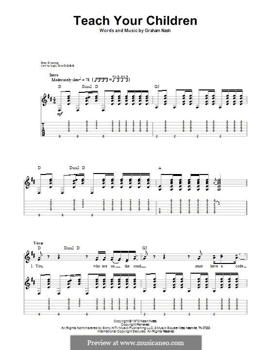Teach Your Children (Crosby, Stills & Nash): Para guitarra com guia by Graham Nash