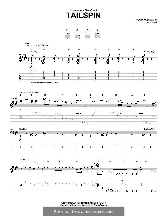 Tailspin (moe.): Para guitarra com guia by Al Schnier