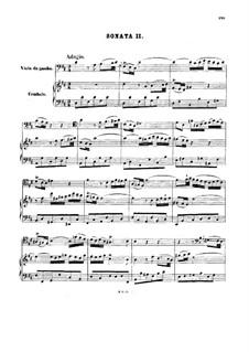 Sonata for Viola da Gamba and Harpsichord No.2 in D Major, BWV 1028: Partitura completa by Johann Sebastian Bach