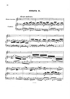 Sonata for Flute and Harpsichord No.2 in E Flat Major, BWV 1031: Partitura completa by Johann Sebastian Bach