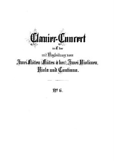 Concerto for Harpsichord, Two Flutes and Strings No.6 in F Major, BWV 1057: partitura completa by Johann Sebastian Bach