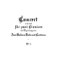 Concerto for Two Harpsichords and Strings No.3 in C Minor, BWV 1062: Partitura completa by Johann Sebastian Bach