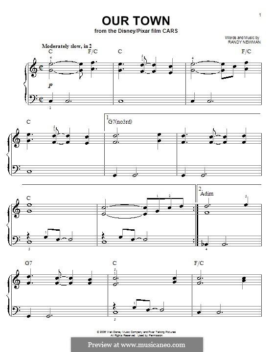Our Town: Facil para o piano by Randy Newman