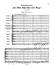 Herr Gott, Beherrscher aller Dinge, BWV 120a: Herr Gott, Beherrscher aller Dinge by Johann Sebastian Bach