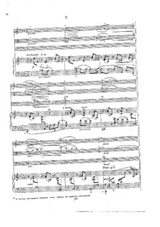Piano Quartet in A Minor, Op.31: Movimento II. Partitura completa by Georgy Catoire