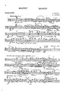 Piano Quartet in A Minor, Op.31: parte violoncelo by Georgy Catoire