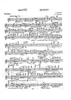 Piano Quartet in A Minor, Op.31: parte do violino by Georgy Catoire