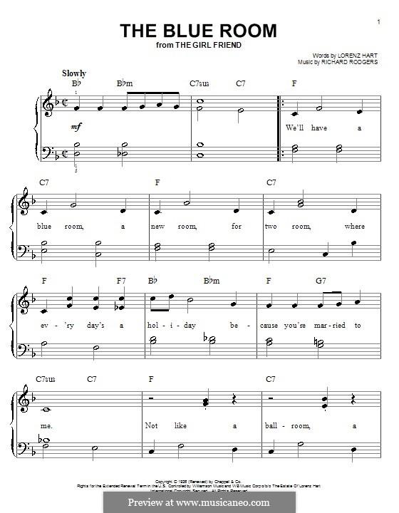The Blue Room: Facil para o piano by Richard Rodgers