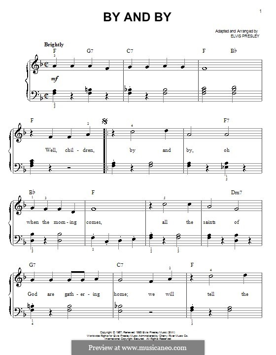 By and By: Facil para o piano by Elvis Presley