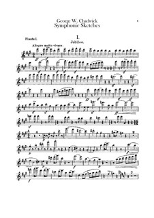 Symphonic Sketches: parte de flautas by George Whitefield Chadwick