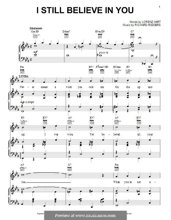 I Still Believe in You: Para vocais e piano (ou Guitarra) by Richard Rodgers