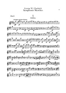 Symphonic Sketches: oboes parte I-II by George Whitefield Chadwick
