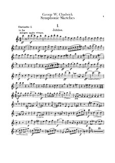 Symphonic Sketches: Clarinets, bass clarinet parts by George Whitefield Chadwick