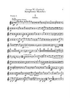 Symphonic Sketches: trompetas parte I-II by George Whitefield Chadwick
