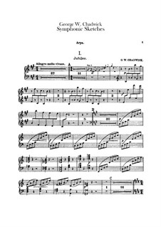 Symphonic Sketches: parte harpa by George Whitefield Chadwick