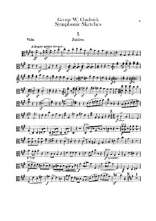 Symphonic Sketches: parte viola by George Whitefield Chadwick