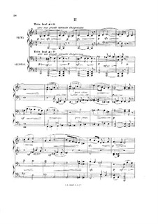 Symphony in B Flat Major, Op.20: Movement II. Arrangement for piano four hands by Ernest Chausson