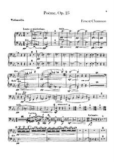 Poem in E Flat Major, Op.25: parte violoncelo by Ernest Chausson