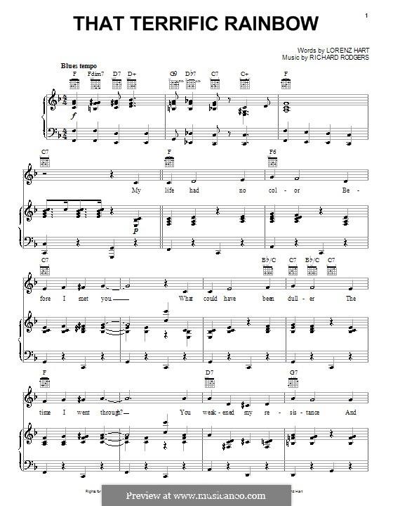 That Terrific Rainbow: Para vocais e piano (ou Guitarra) by Richard Rodgers