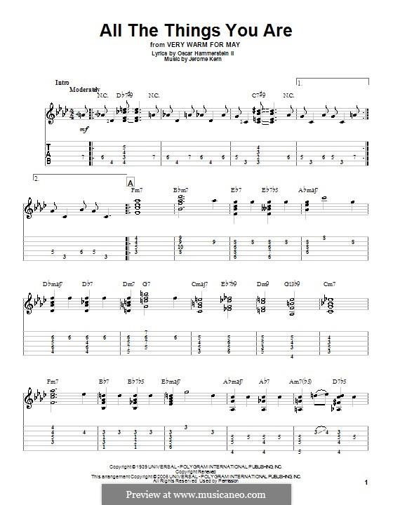 Instrumental version: Para Guitarra by Jerome Kern